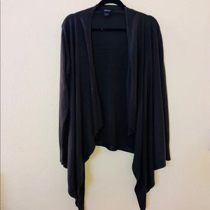 LouLou open front waterfall long sleeve cardigan